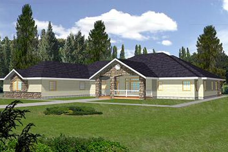 Traditional Exterior - Front Elevation Plan #117-510 - Houseplans.com