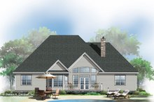 Ranch Exterior - Rear Elevation Plan #929-881