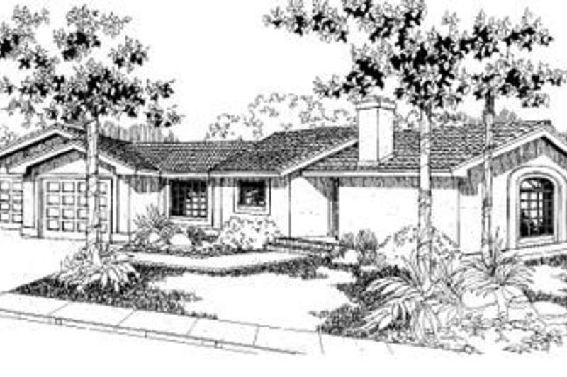 Traditional Exterior - Front Elevation Plan #60-314 - Houseplans.com