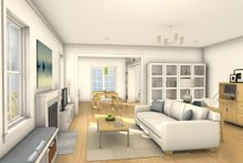 House Design - Colonial Interior - Family Room Plan #497-19