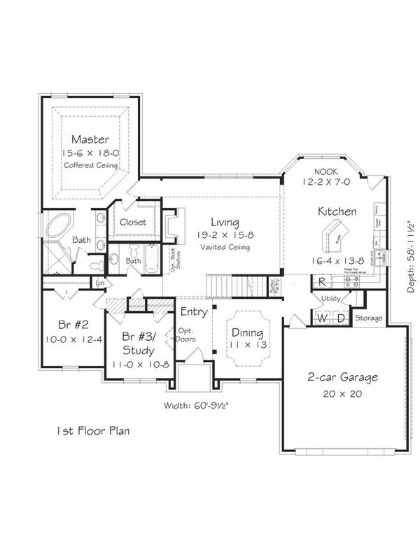 Traditional Floor Plan - Main Floor Plan Plan #329-350