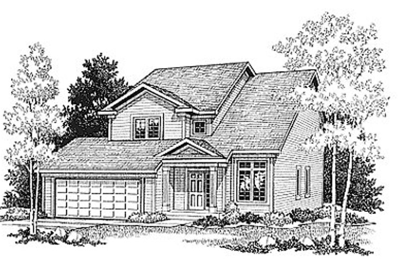 Traditional Exterior - Front Elevation Plan #70-152