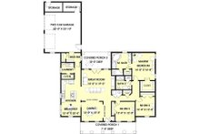 Southern Floor Plan - Main Floor Plan Plan #44-153