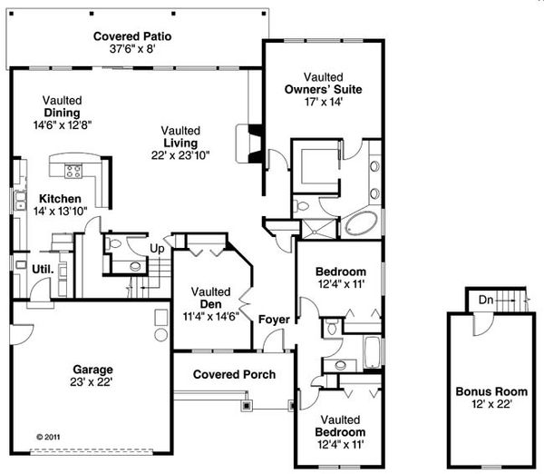 House Plan Design - Traditional Floor Plan - Main Floor Plan #124-870