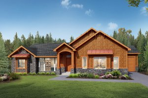 Architectural House Design - Craftsman Exterior - Front Elevation Plan #1073-1