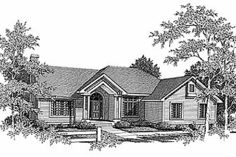 Traditional Exterior - Front Elevation Plan #70-281