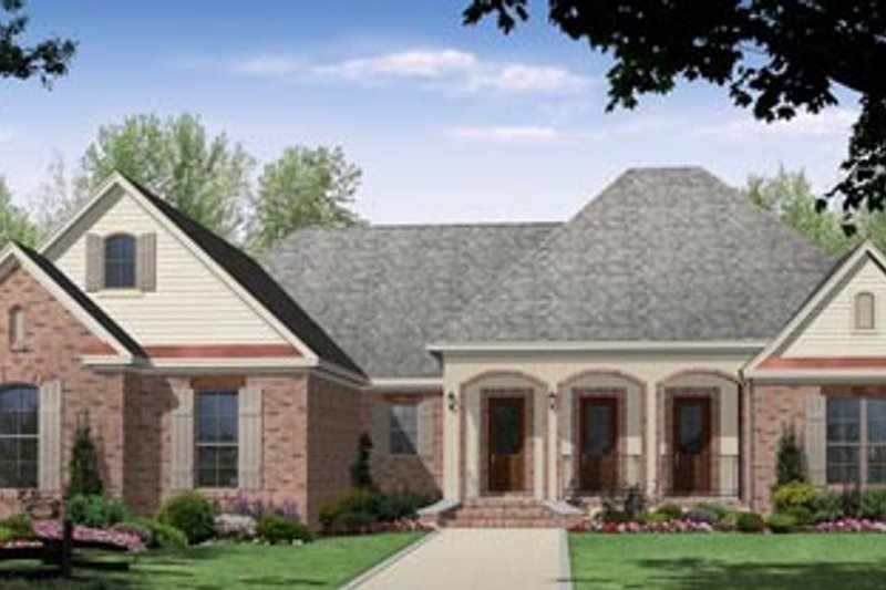 European Exterior - Front Elevation Plan #21-195 - Houseplans.com