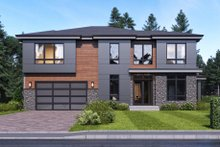 Contemporary Exterior - Front Elevation Plan #1066-51