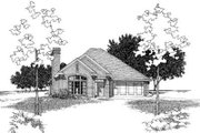 Traditional Style House Plan - 3 Beds 2 Baths 1360 Sq/Ft Plan #310-181 Exterior - Front Elevation