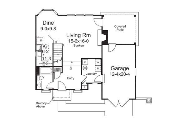 Dream House Plan - European Floor Plan - Main Floor Plan #57-675