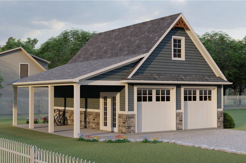 Craftsman Style House Plan - 0 Beds 0 Baths 721 Sq/Ft Plan #1064-16 Exterior - Front Elevation