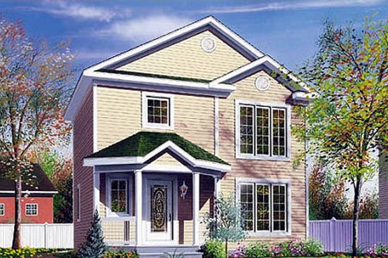 Home Plan - Traditional Exterior - Front Elevation Plan #23-476
