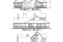 Country Exterior - Rear Elevation Plan #120-115