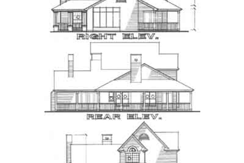 Country Exterior - Rear Elevation Plan #120-115 - Houseplans.com