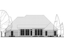 European Exterior - Rear Elevation Plan #430-143