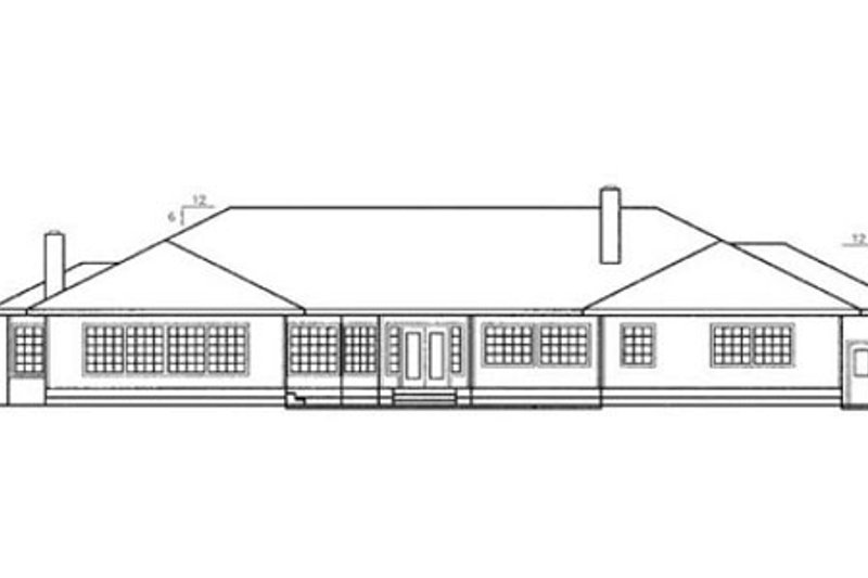 Traditional Exterior - Rear Elevation Plan #60-178 - Houseplans.com