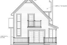 Cottage Exterior - Rear Elevation Plan #23-520