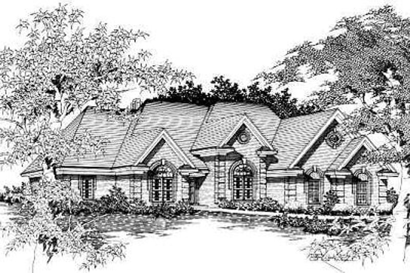 European Style House Plan - 5 Beds 3.5 Baths 2891 Sq/Ft Plan #329-275 Exterior - Front Elevation