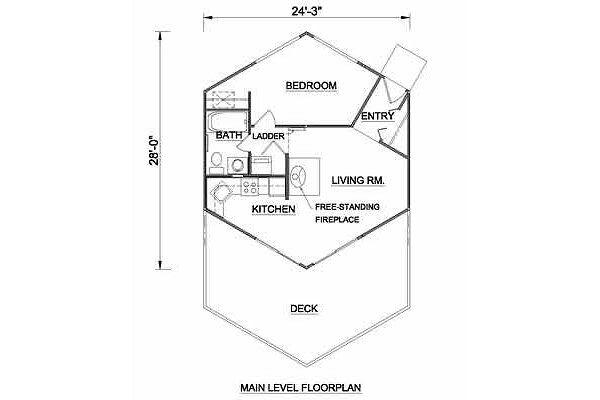 Contemporary Floor Plan - Main Floor Plan Plan #116-105