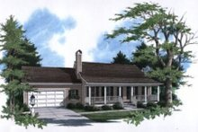 House Plan Design - Country Exterior - Front Elevation Plan #41-105