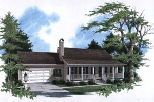 Home Plan - Country Exterior - Front Elevation Plan #41-105