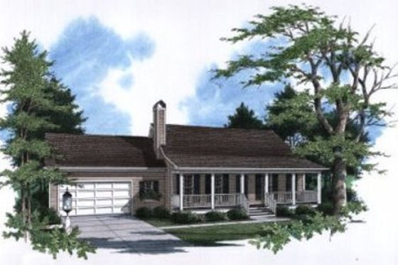 Country Exterior - Front Elevation Plan #41-105