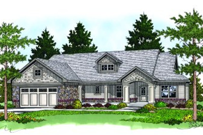 Traditional Exterior - Front Elevation Plan #70-246 - Houseplans.com