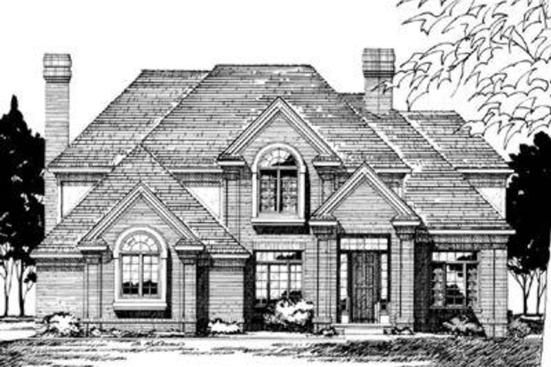 Dream House Plan - Traditional Exterior - Front Elevation Plan #20-1094