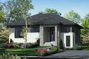 Contemporary Exterior - Front Elevation Plan #25-4334