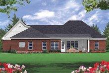 Home Plan Design - Southern Exterior - Rear Elevation Plan #21-102