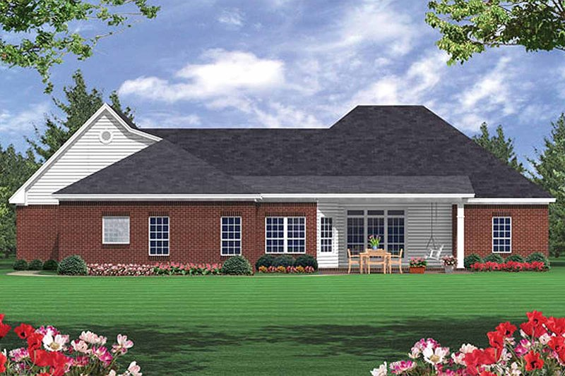 Southern Exterior - Rear Elevation Plan #21-102 - Houseplans.com