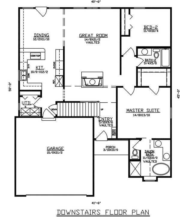 Dream House Plan - Traditional Floor Plan - Main Floor Plan #405-330