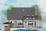 Cottage Style House Plan - 4 Beds 3.5 Baths 2124 Sq/Ft Plan #929-1104 Exterior - Rear Elevation