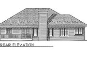 Traditional Style House Plan - 3 Beds 2 Baths 1461 Sq/Ft Plan #70-131 Exterior - Rear Elevation