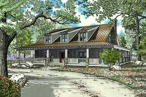Country Exterior - Front Elevation Plan #17-653