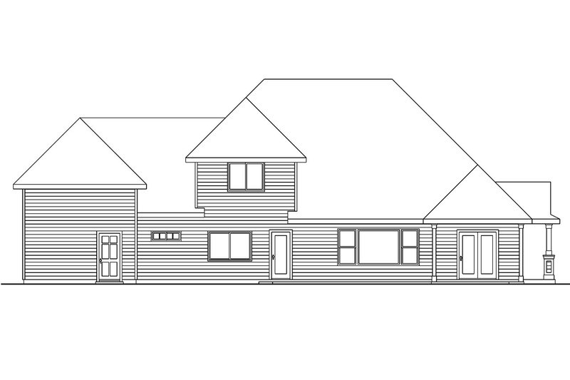 Country Exterior - Rear Elevation Plan #124-604 - Houseplans.com