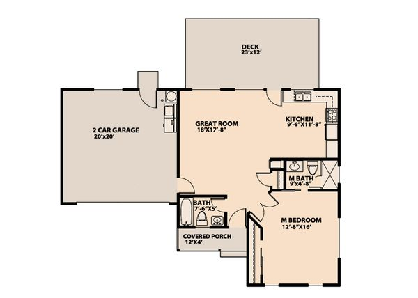 Craftsman Floor Plan - Main Floor Plan Plan #515-10