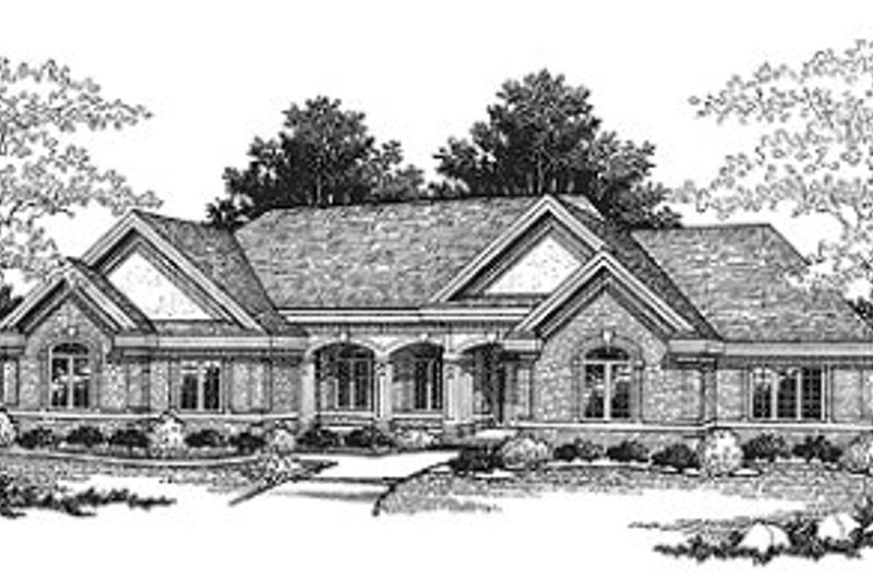 Traditional Exterior - Front Elevation Plan #70-522 - Houseplans.com