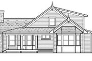 Country Style House Plan - 3 Beds 2 Baths 1838 Sq/Ft Plan #51-350 Exterior - Rear Elevation