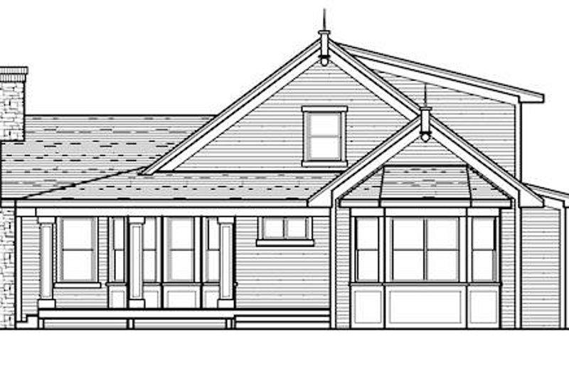 Country Exterior - Rear Elevation Plan #51-350 - Houseplans.com