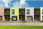 Modern Style House Plan - 3 Beds 1.5 Baths 952 Sq/Ft Plan #538-1