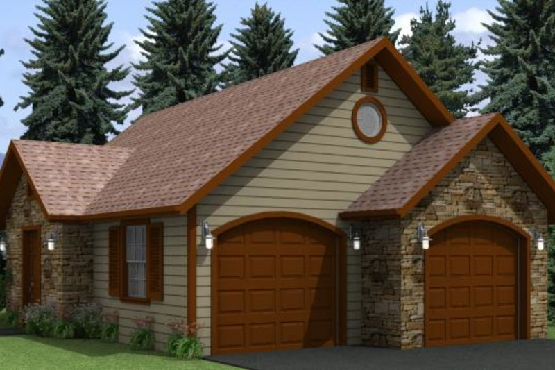 Traditional Style House Plan - 0 Beds 0 Baths 600 Sq/Ft Plan #501-15 Exterior - Front Elevation