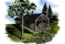 Architectural House Design - Log Exterior - Front Elevation Plan #942-45