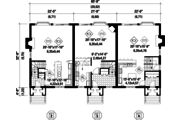 Traditional Style House Plan - 9 Beds 3 Baths 6338 Sq/Ft Plan #25-4615 Floor Plan - Main Floor Plan