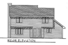 Traditional Exterior - Rear Elevation Plan #70-148