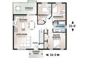 Craftsman Style House Plan - 3 Beds 1 Baths 1024 Sq/Ft Plan #23-2696 Floor Plan - Main Floor Plan