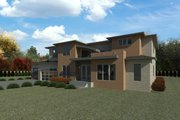 Contemporary Style House Plan - 5 Beds 3.5 Baths 4072 Sq/Ft Plan #1066-116 Exterior - Rear Elevation