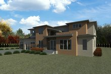 House Plan Design - Contemporary Exterior - Rear Elevation Plan #1066-116