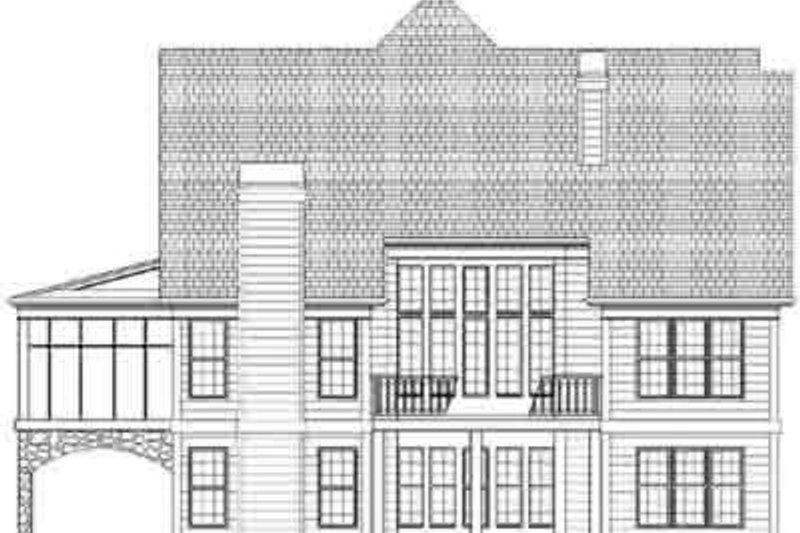 European Exterior - Rear Elevation Plan #119-232 - Houseplans.com