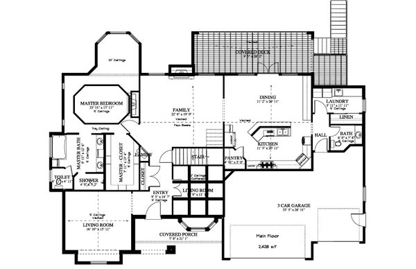 House Plan Design - Traditional Floor Plan - Main Floor Plan #1060-61